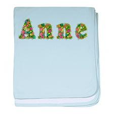 Anne Floral baby blanket