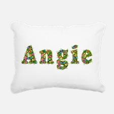 Angie Floral Rectangular Canvas Pillow