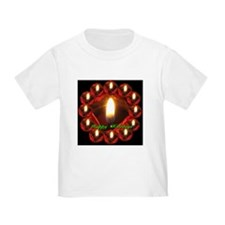 Happy Holidays Rose Candle Wreath T