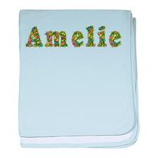Amelie Floral baby blanket