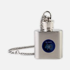 Dad's 40th Bday Flask Necklace