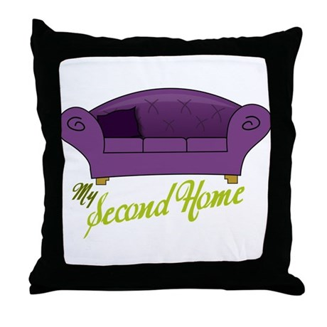 My Second Home Throw Pillow
