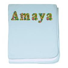 Amaya Floral baby blanket