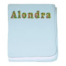 Alondra Floral baby blanket