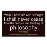 Socrates Practice of Philosophy 3x5.jpg Sticker (R