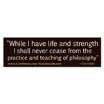 Socrates Practice of Philosophy.jpg Sticker (Bumpe