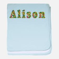 Alison Floral baby blanket
