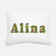 Alina Floral Rectangular Canvas Pillow
