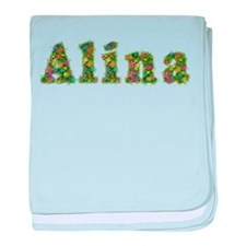 Alina Floral baby blanket