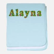 Alayna Floral baby blanket
