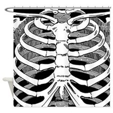 Ribcage Pattern Shower Curtain
