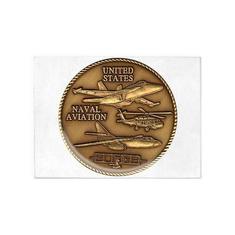 Bronze Naval Aviation Centennial 5'x7'Area Rug