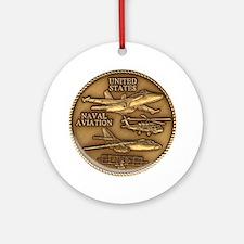 Bronze Naval Aviation Centennial Ornament (Round)