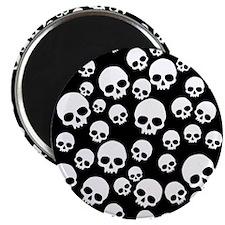 Random Skull Pattern Magnet