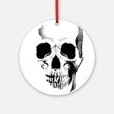 Skull Face Ornament (Round)
