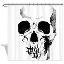 Skull Face Shower Curtain