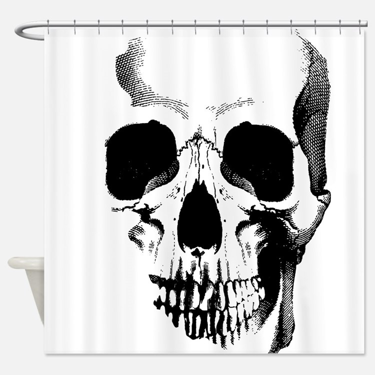 Skull Face Shower Curtain