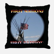 First Nations, First Patriots Throw Pillow