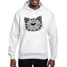 Grey Cat Hoodie