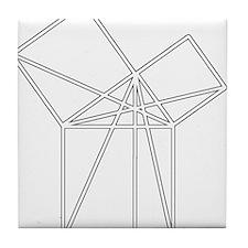 Euclid's Pythagorean Proof Tile Coaster