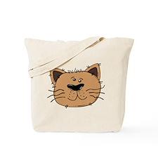 Brown Cat Tote Bag