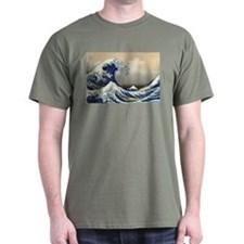 Big Wave Military Green T-Shirt