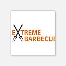 """barbecue Square Sticker 3"""" x 3"""""""
