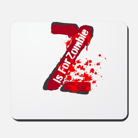 Z Is For Zombie Mousepad