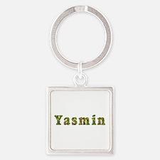 Yasmin Floral Square Keychain
