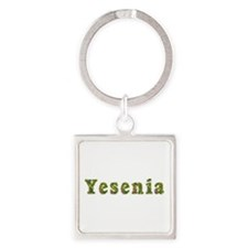 Yesenia Floral Square Keychain
