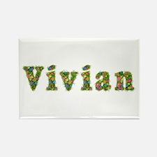 Vivian Floral Rectangle Magnet