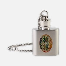 Fun Patchwork Quilt Flask Necklace