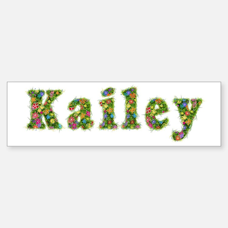 Kailey Floral Bumper Bumper Bumper Sticker