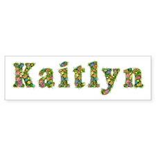 Kaitlyn Floral Bumper Bumper Sticker