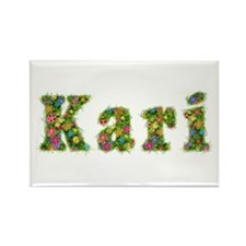 Kari Floral Rectangle Magnet