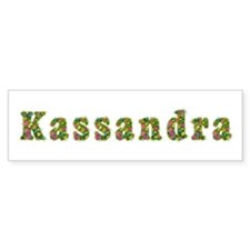 Kassandra Floral Bumper Car Sticker