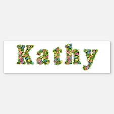 Kathy Floral Bumper Bumper Bumper Sticker