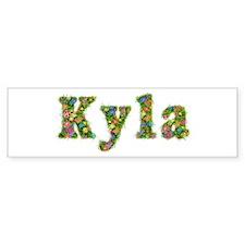 Kyla Floral Bumper Bumper Sticker
