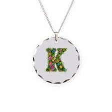 K Floral Necklace