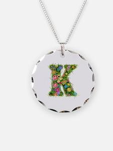 K Floral Necklace