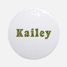 Kailey Floral Round Ornament