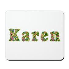 Karen Floral Mousepad