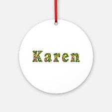Karen Floral Round Ornament