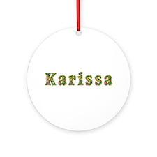 Karissa Floral Round Ornament