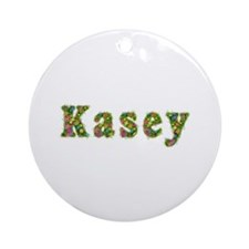 Kasey Floral Round Ornament