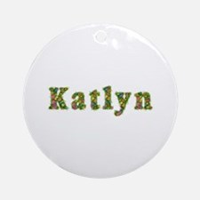Katlyn Floral Round Ornament