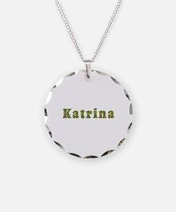 Katrina Floral Necklace Circle Charm