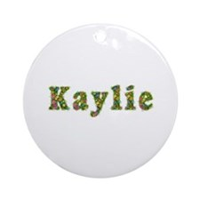 Kaylie Floral Round Ornament