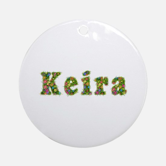 Keira Floral Round Ornament