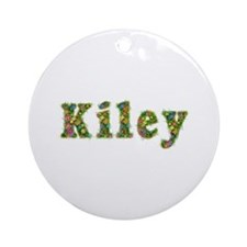 Kiley Floral Round Ornament